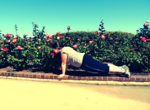 The totally amazing rose garden at Balboa Park smells WAY better than a gym!